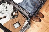 Open traveler's bag