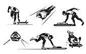 Winter sports - skeleton. Luge Racer