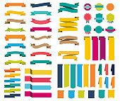 Ribbons set / 61 icones