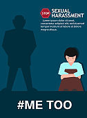 Sexual harassment poster with girl