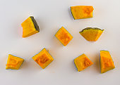 Sliced Pumpkin Cubes with peel