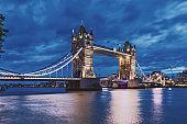 London Tower Bridge, River Thames UK