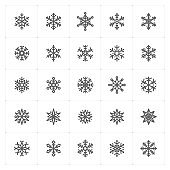 Mini Icon set – snowflake icon vector illustration