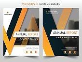Orange black triangle Brochure annual report Leaflet Flyer template design