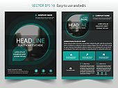 Green black Vector Brochure annual report Leaflet Flyer template design
