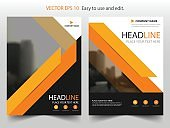 Orange black Vector Brochure annual report Leaflet Flyer template design