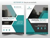 Blue hexagon Vector Brochure annual report Leaflet Flyer template design