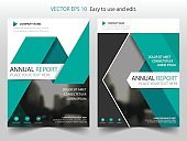 Green triangle Vector Brochure annual report Leaflet Flyer template design