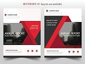 Red triangle Vector Brochure annual report Leaflet Flyer template design
