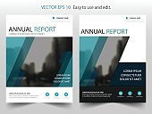Blue abstract Vector Brochure annual report Leaflet Flyer template design