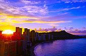 Sunrise of Waikiki Beach