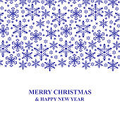 Christmas congratulatory card with snowflakes ornament