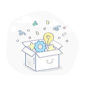 Surprise, Gift, Winning Prize or Special offer illustration concept