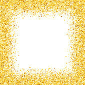 card with shimmer. Greeting card with stars. Gold sparkle. Shimmer. Sparkles. Golden frame of hearts