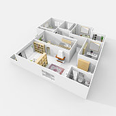 3d furnished home apartment