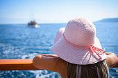Little Girl Enjoying Sailing