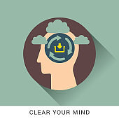 Clear your mind icon concept - Illustration