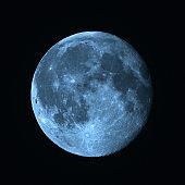 Full Moon photographed through a telescope. My astronomy work.