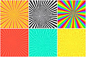 Abstract color striped background for comic bubble