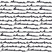 Hand written text pattern