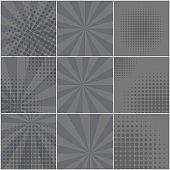 Monochrome backgrounds for retro speech bubbles
