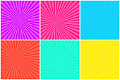Colorful bright striped background for comic bubbles