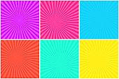 Colorful bright striped background for comic bubbles