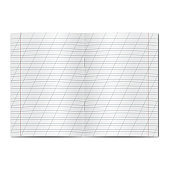 Vector opened school cursive worksheet copybook