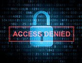Abstract code background - access denied
