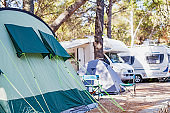 Tent by the seashore, Croatia