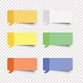 sticky note set  message box vector post note
