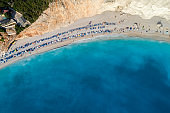 Porto Katsiki on the island of Lefkada in the Ionian Sea in Greece