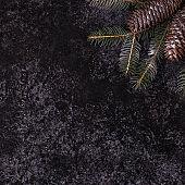 Christmas dark stone background.