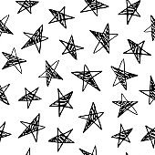 seamless pattern with stars.