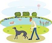 Man walking with Dog