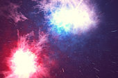 Outer space is filled with infinite number of stars, galaxies, nebulae. Beautiful colorful background. 3d rendering