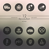 Set of revolution icons