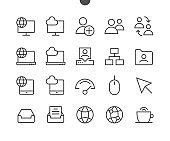 Network UI Pixel Perfect Well-crafted Vector Thin Line Icons 48x48 Ready for 24x24 Grid with Editable Stroke. Simple Minimal Pictogram
