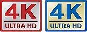 4k ultra HD icon, vectors.