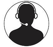 Icon of Call Center Man Design