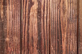 Old wooden planks brown wood texture background.