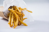 Close up of french fries