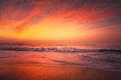 beach at golden sunset