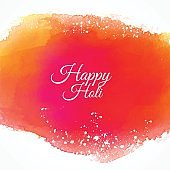 happy holi colorful ink background