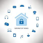 Internet Of Things Design Concept With Icons