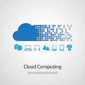 Cloud Computing Design Concept with Icons