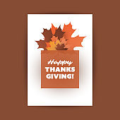 Happy Thanksgiving Card Design Template
