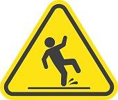 Wet floor warning sign.