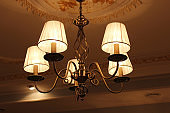 chandelier with romantic standard lamps