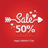 Sale banner with arrow